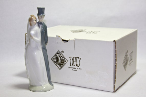 Lladro NAO Just Married Bride And Groom Wedding Cake Topper