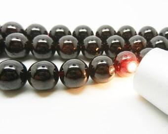 """15.5""""  Natural Garnet  Round  Bead , Garnet  Gemstone -- 10mm"""