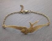 Vintage Armband Schwalbe bronze
