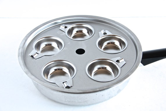 Large Stainless Steel 5 Cup Egg Poacher By Thewrinklyelephant