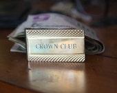 Vintage Crown Club Etched Money Clip