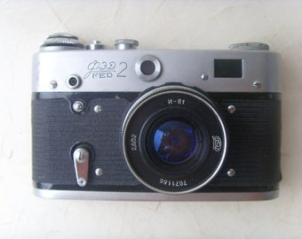 Vintage photo camera FED 2 Made in USSR