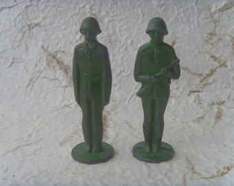 Vintage Soviet 2 Lead Soldiers Made in USSR in 1970s