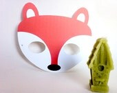 INSTANT DOWNLOAD - PRINTABLE Eyemask- Fox