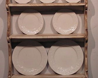 Primitive Colonial Plate Rack - Your Choice of Colors - FREE SHIPPING