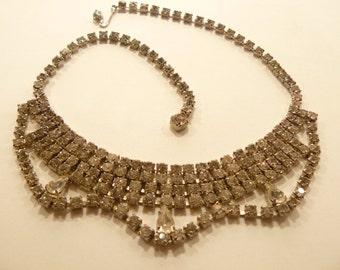 Lovely Vintage Drippy Rhinestone Necklace