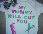 hairdresser baby mommy cuts hair baby shower