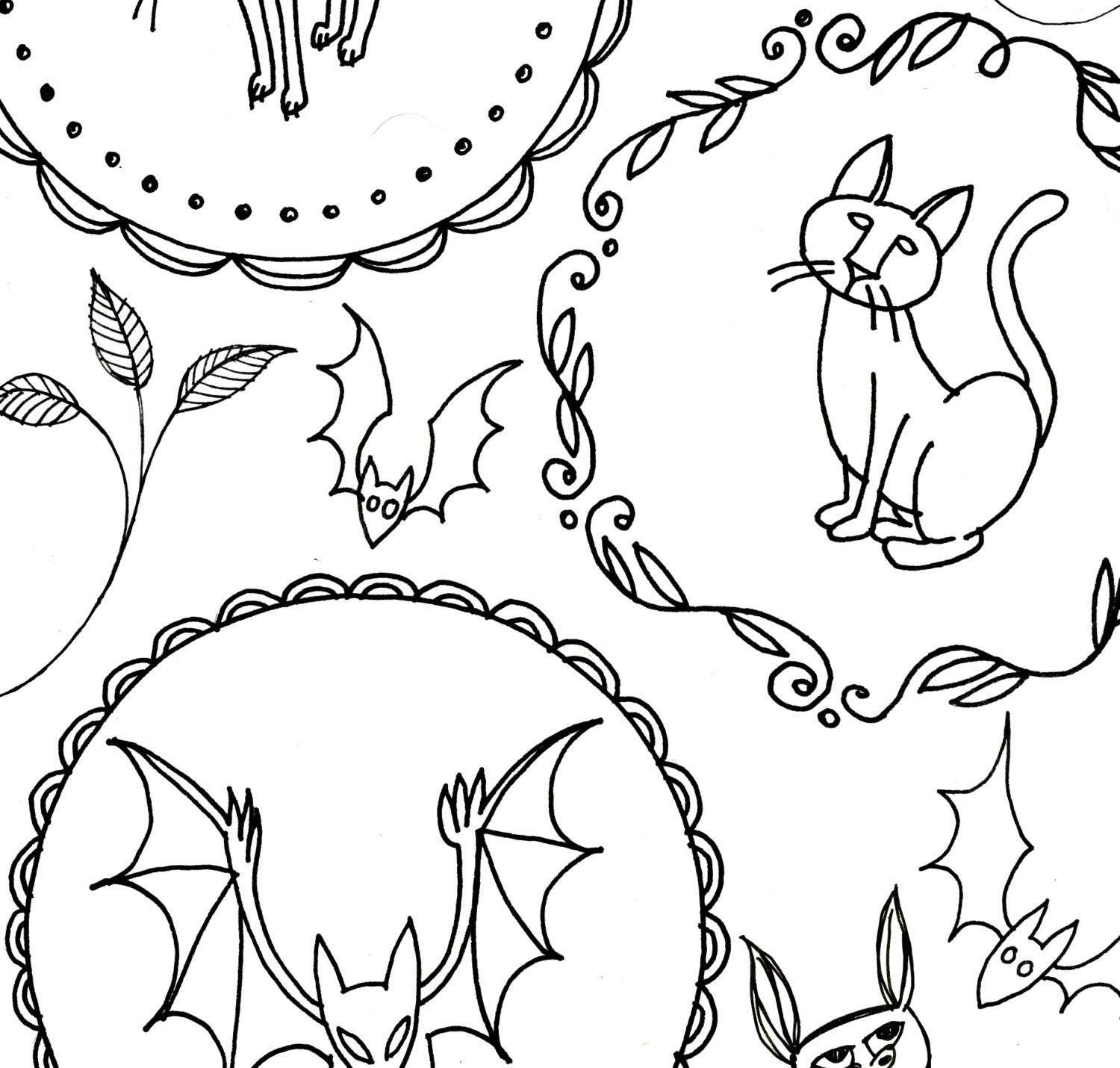 halloween embroidery patterns printable set of digital