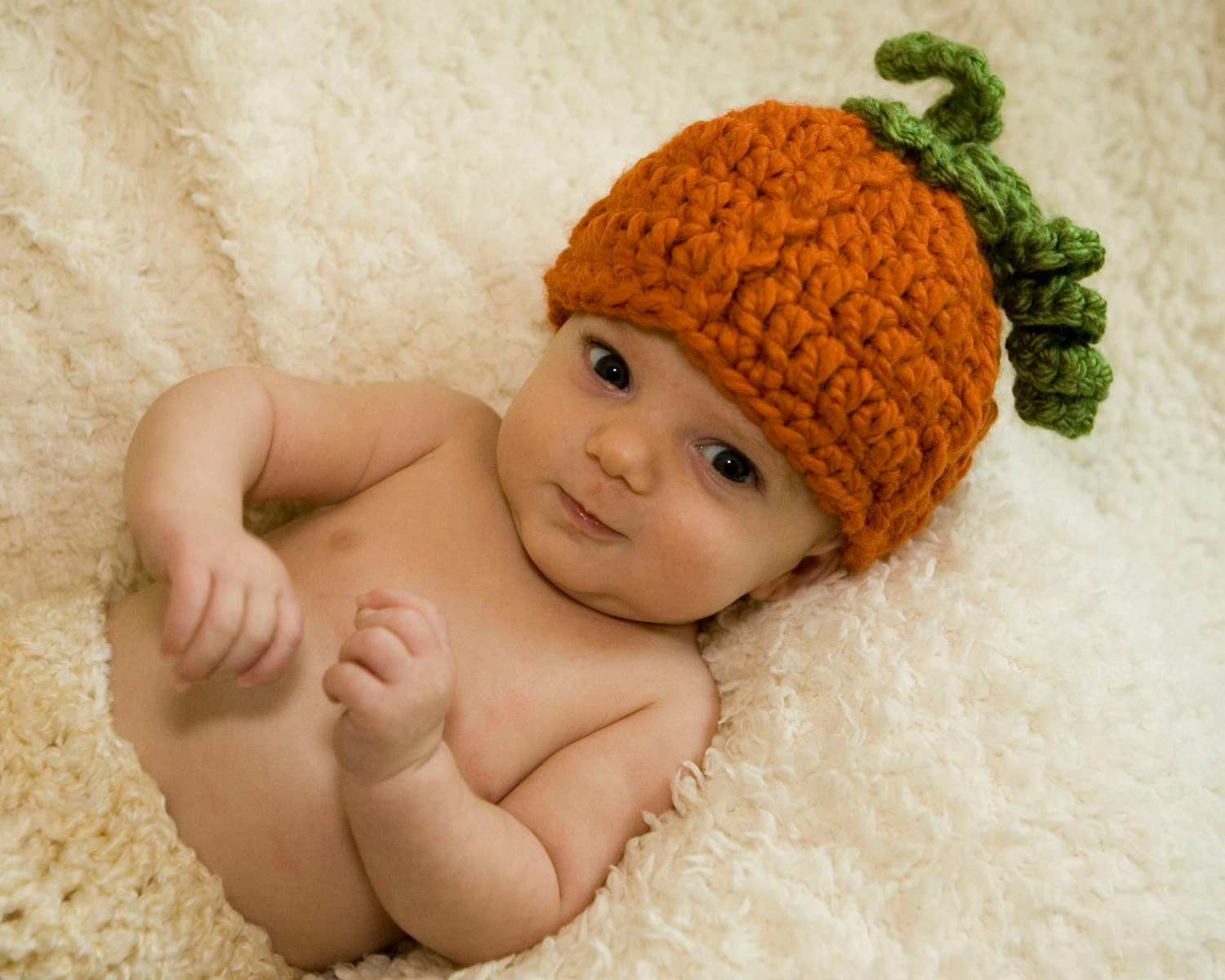 Pattern pumpkin baby hat crochet quick and easy beanie zoom bankloansurffo Image collections