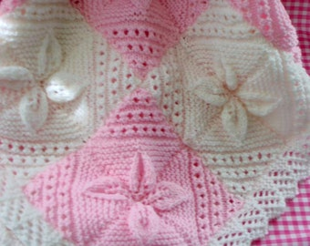 Baby Girl Handmade Knitted Blanket