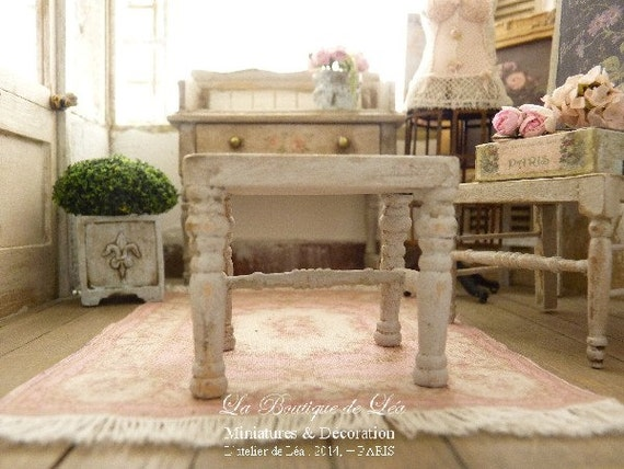Stool shabby chic gustavian gray and romantic by - Gray shabby chic furniture ...