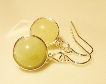 Quartzite Earrings, Petite 10mm Dangles, Positive Change, Healing Bracelet, Spiritual, Balance, Focus, Reiki Bracelet, Free Shipping