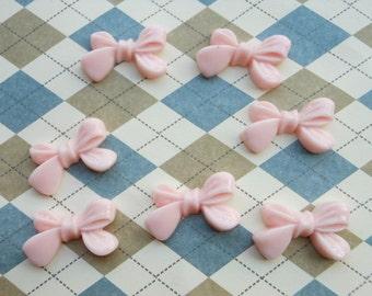 50 Pcs Flat Back pink Resin Bow Cabochons 23x14mm,resin bowknot  charm