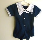 Infant Sailor Suit/ Nautical Romper/ Baby Onesie 0-3 month