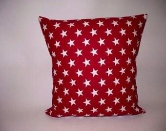 Patriotic stars pillow cover