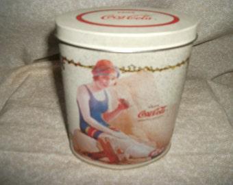 Vintage Coca Cola Oval 1989 Tin