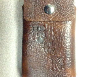 Vertical Leather Cell phone case with belt clip