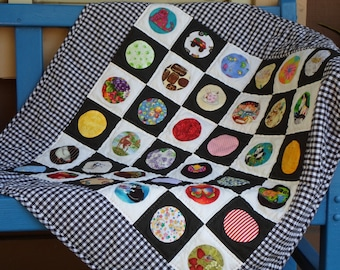 Handmade Baby Quilt Cotton Checkers I Spy