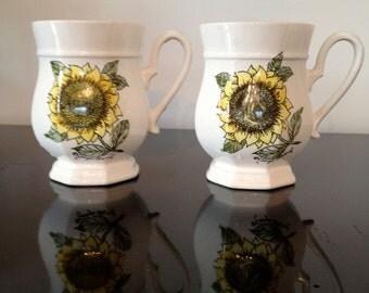 Georges Briard Sunflower Mugs