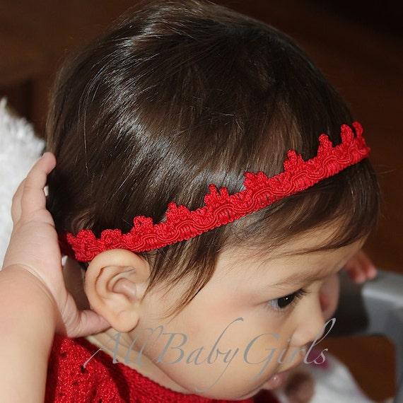 Red Baby Crown, Red Tiara, Girls Tiara, Birthday Girls Crown, Crown for Girls, Birthday Crown, Headband for Newborn