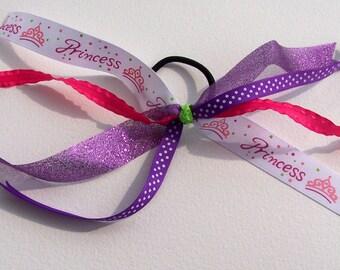 Purple & Pink Priness Bow