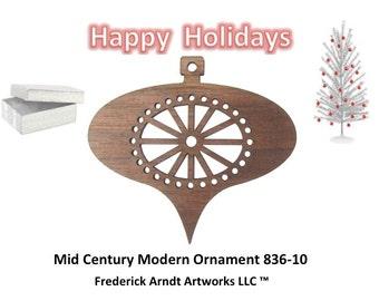 836-10 Mid Century Modern Christmas Ornament