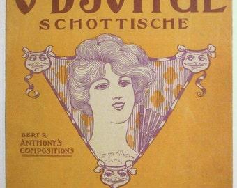"""Victorian Era Sheet Music """"O-B-Joyful"""" Schottische by Bert R Anthony"""