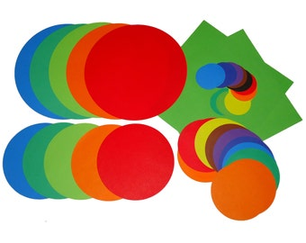 14cm 10cm 7cm 3.5 cm Mixed Circle shape Dual side Origami paper 750 sheets