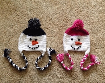 Crocheted Snowman Hat (1)