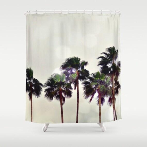 Shower curtain beach decor palm tree landscape by naturecity for Palm tree bathroom ideas