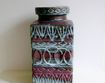 Mid Century Bay keramik ceramic floor vase Bodo Mans West Germany WGP