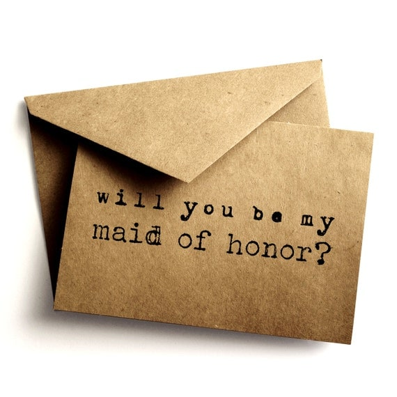 Items Similar To Rustic Maid Of Honor Invitation