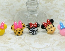 Mickey Mouse Rings, Minnie Mouse Ring, Mickey In Cupcake, Leapord Or Tiger, Childrens Rings, Childrens Jewelry, Kids Rings, Kids Jewelry