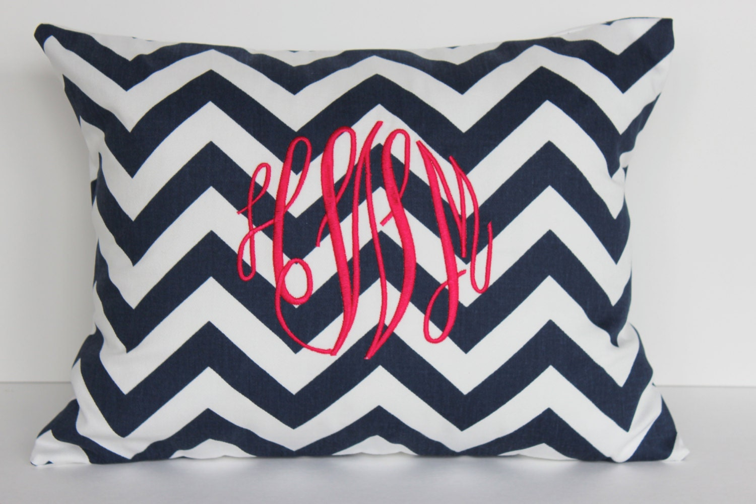 Monogrammed Pillow Decorative Throw Pillow By LittleYellowNest