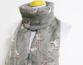 Unicorn Before ChristmasScarf White Unicorn Scarf Gray Scarf Winter Soft Scarf Large Scarf