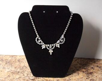 Vintage Choker  Rhinestone Necklace