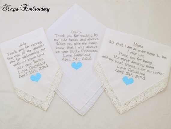 Wedding gifts for family of the Bride Embroidered Wedding ...