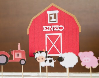 Personalized Farm cake toppers
