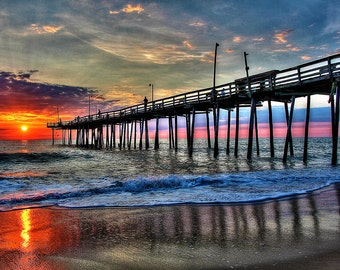 OBX Fishing Pier at Sunrise