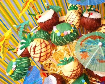 Hawaiian Themed Cake Pops