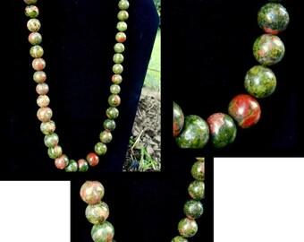 Unakite Gemstone Necklace