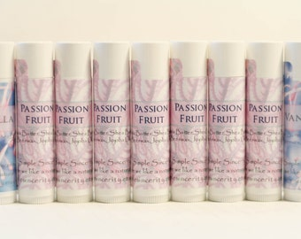 Natural Lip Balm - Set of 12 Party Favors - Chapstick - Cocoa Butter Lip Balm in Many Flavors - Simple Sincerity Chapstick