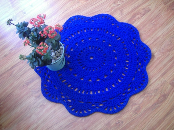 Beautiful Moe39s Stitch Rug In Royal Blue By Moe39s Home Collection