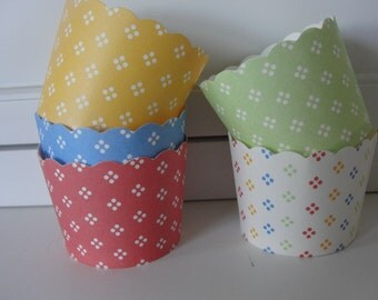 Spring Baking Cups nut cups pastel baking cups pastel nut cups green baking cups blue baking cups coral baking cups coral baking cups