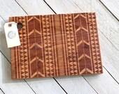 Aztec - Tribal Design Cutting Board - Wood Engraved