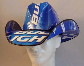 Beer Box Cowboy Hats. Made from recycled Bud Light beer boxes.  Beerhat.