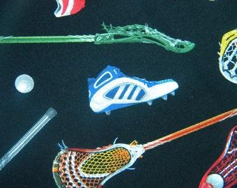 Sports-Lacross LAX fabric--by the yard--Elizabeth's Studio