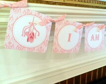 Ballerina- Ballerina Birthday- Ballerina  Birthday Decorations--Ballerina Birthday High Chair Banner- Ballarina