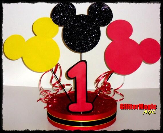 Mickey mouse cumplea os centro de mesa imagui for Mesa de cumpleanos de mickey