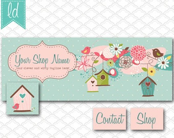 Facebook Cover Photo Set Facebook Timeline - Cover Photo, Profile Picture, and Two Tab Icons Bird Houses - Social Media